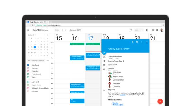 Google kalender neues design in der web version for Kalender design