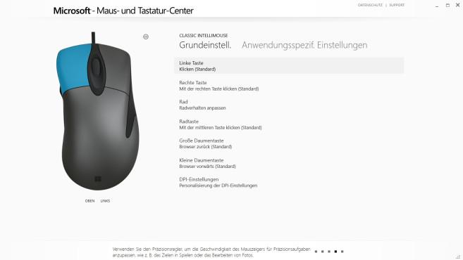 Microsoft Maus- und Tastatur-Center ©COMPUTER BILD