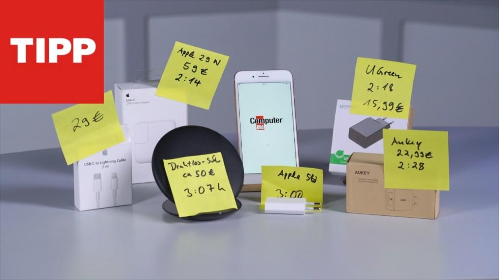 iphone schnell laden computer bild. Black Bedroom Furniture Sets. Home Design Ideas