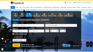 Expedia: Webseite © Expedia