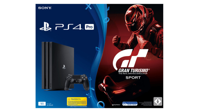 Sony Playstation 4 (PS4) Pro 1TB + Gran Turismo: Sport © Media Markt