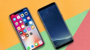 Apple iPhone X gegen Samsung Galaxy S8 ©Apple, Samsung