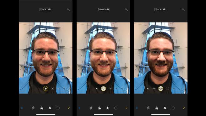 iPhone X: Porträtlicht ©COMPUTER BILD