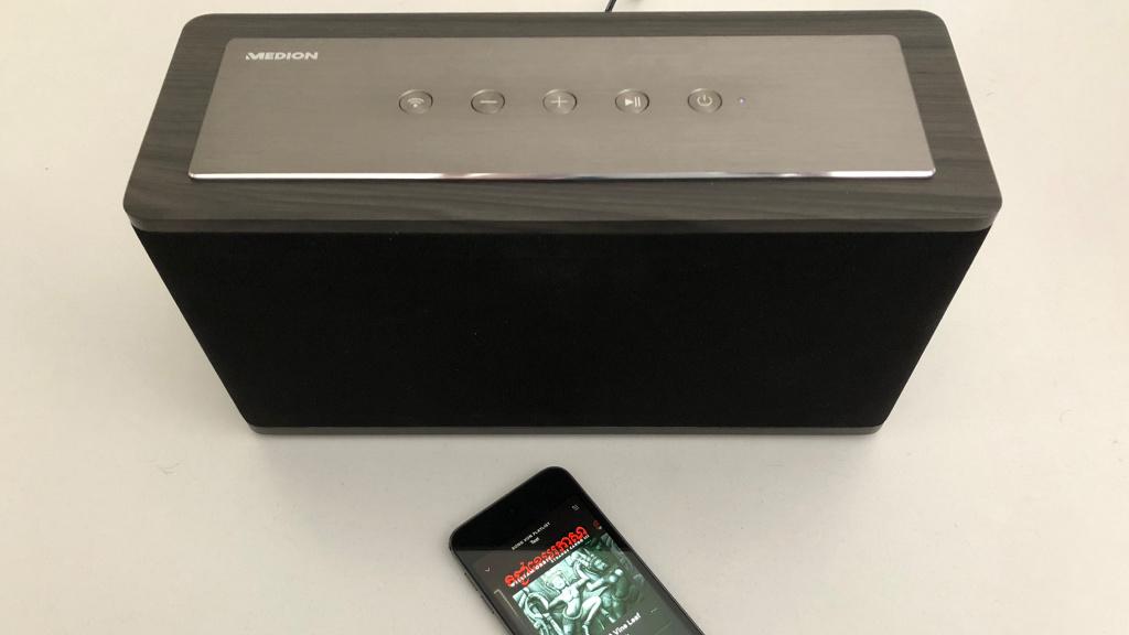 medion x61002 wlan lautsprecher im ersten test audio video foto bild. Black Bedroom Furniture Sets. Home Design Ideas