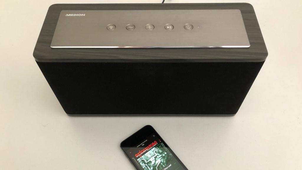 medion x61002 wlan lautsprecher im ersten test audio. Black Bedroom Furniture Sets. Home Design Ideas