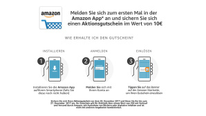 Amazon Shopping-App Aktion 10-Euro-Gutschein © Amazon