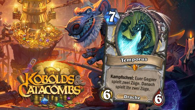 """Hearthstone – Kobolde & Katakomben: Exklusive Kartenenthüllung! Exklusiver Card-Reveal: """"Temporus"""" ist die neue Priest-Legendary von """"Hearthstone – Kobolde & Katakomben"""". ©Blizzard"""