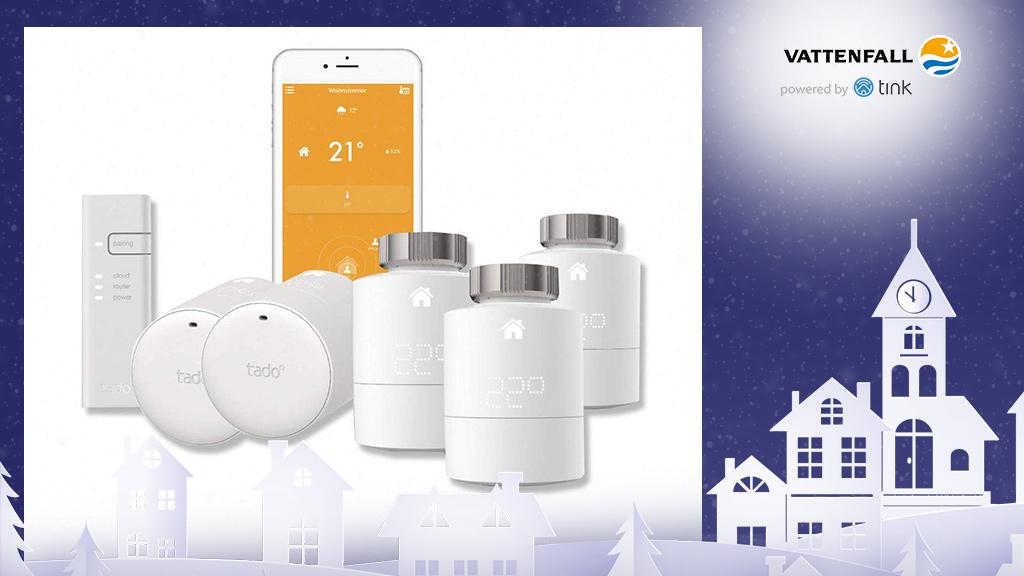 Gewinnen Sie ein Heizkörper-Thermostat Starter-Set von tado°. ©tado°, ©istock/thanaphiphat