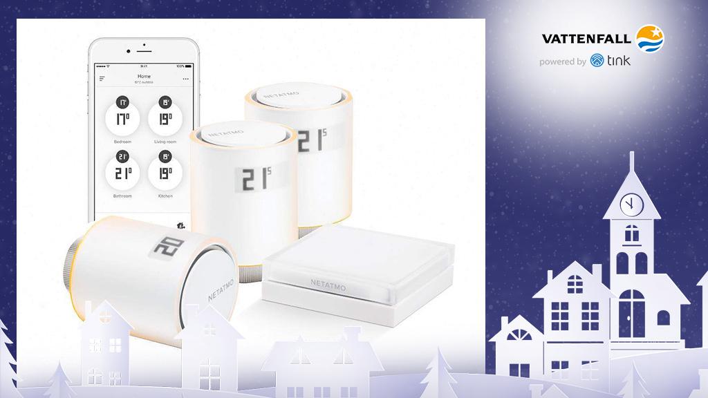 Gewinnen Sie ein Heizkörperthermostat Starter-Set von Netatmo. ©Netatmo, ©istock/thanaphiphat