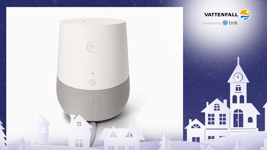 Gewinnen Sie Home Smart Speaker von Google. ©Google, ©istock/thanaphiphat
