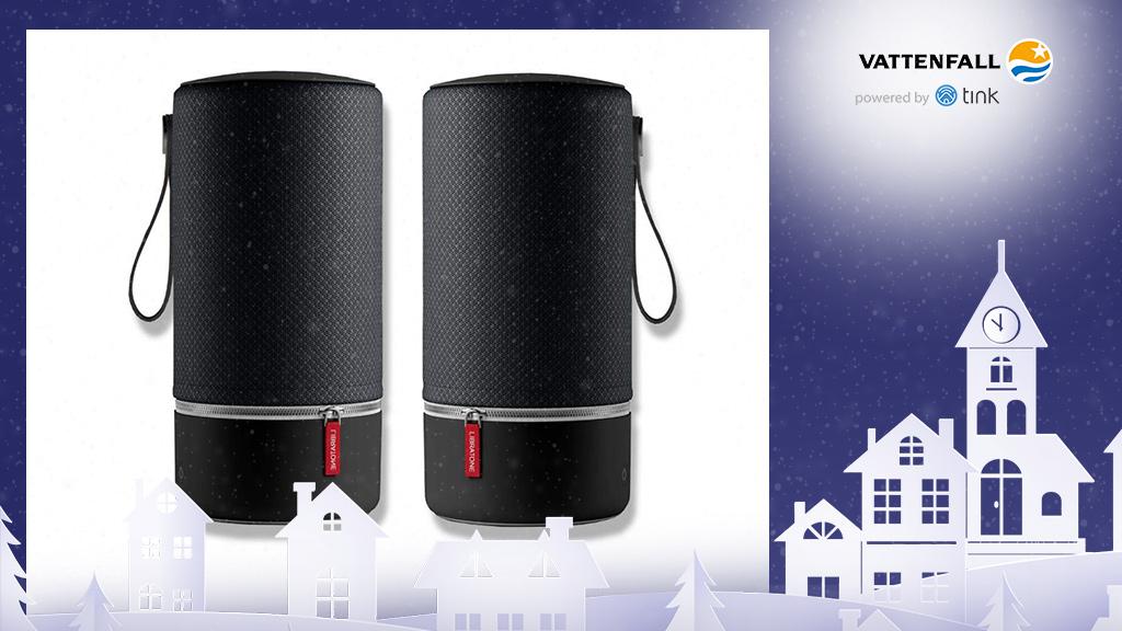 Gewinnen Sie ein Stereo-Set Zipp Bluetooth-Lautsprecher von Libratone. ©Libratone, ©istock/thanaphiphat