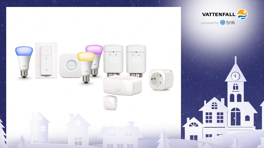 Gewinnen Sie ein Home-Kit Smart Starter von Apple und ein Hue White and Color Ambiance E27 3er Starter-Set von Philips. ©Elgato, Philips, ©istock/thanaphiphat