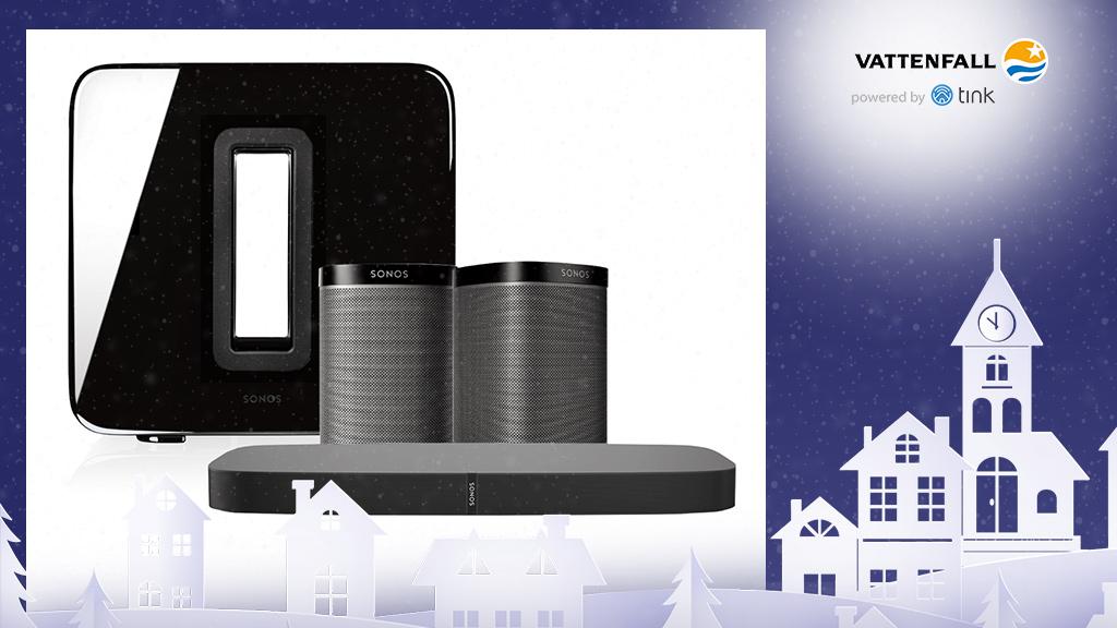 Gewinnen Sie ein One Playbase TV Paket 2 von Sonos. ©Sonos, ©istock/thanaphiphat