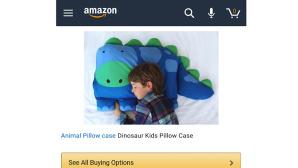 Amazon-Angebot: Dino-Kissenbezug ©Imgur / Amazon