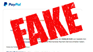 PayPal-Betrug falsche Zahlungsbestätigung ©Polizei Niedersachen, Pixabay