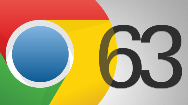Chrome 63 © Google