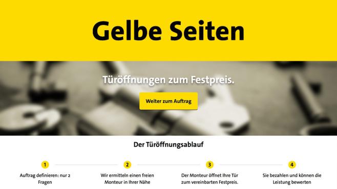 Schlüsselnotdienst-Service zum Festpreis ©Gelbe Seiten