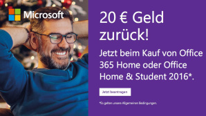 Microsoft Office Cashback-Aktion 20 Euro ©Microsoft