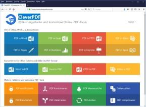 CleverPDF: 20 kostenlose Online-PDF-Converter & Tools