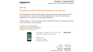 Amazon Fake-WIderruf © Mimikama