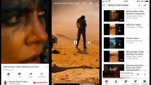 YouTube iOS iPhone vertikale Videos ©YouTube, Google, Vertical Video Trailers