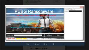 PUBG Ransomware ©Twitter / MalwareHunterTeam