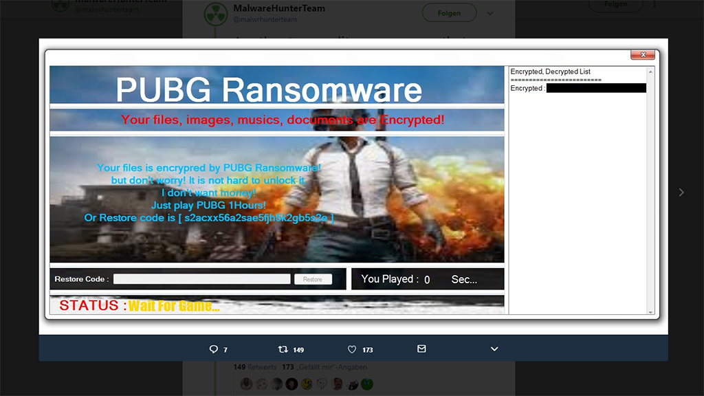 pubg ransomware zwingt sie zum spielen computer bild spiele. Black Bedroom Furniture Sets. Home Design Ideas