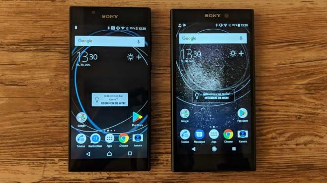 Sony Xperia L1 und Sony Xperia L2 im Breitenvergleich ©COMPUTER BILD