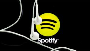 Spotify-Logo mit Kopfhörern ©dpa-Bildfunk