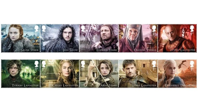 Game of Thrones Briefmarken © Royal Mail