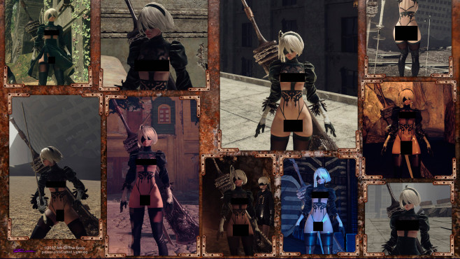 Nier – Automata © Crafted Lightning, Deviant Art