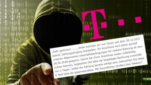 gefälschte Telekom-News ©Telekom, iStock.com/FOTOKITA