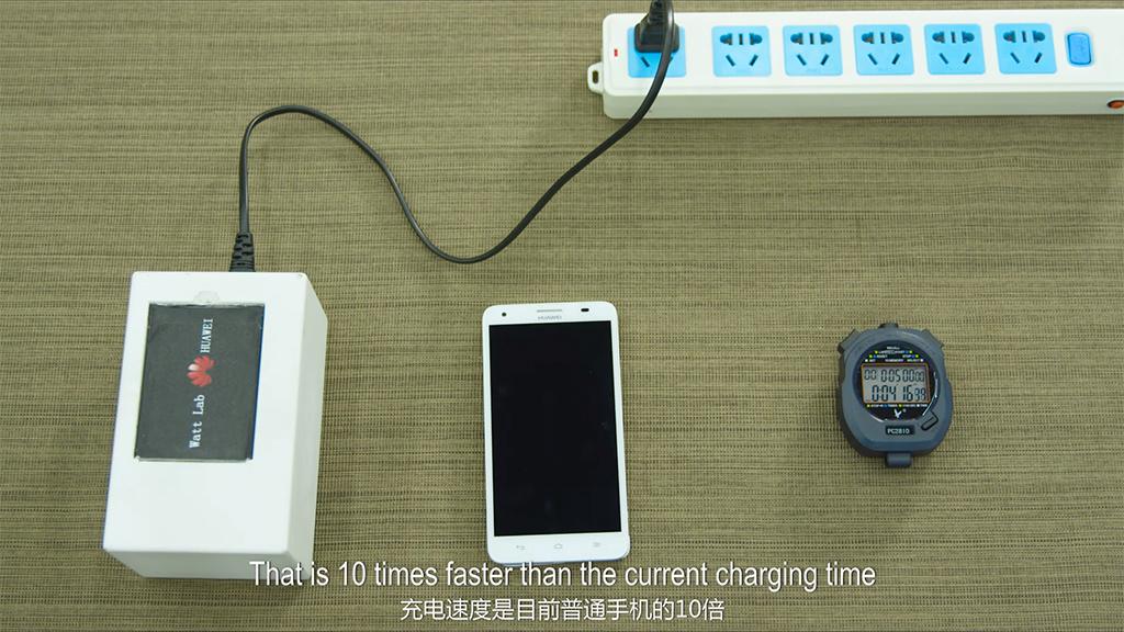 Huawei: Halber Handy-Akku in fünf Minuten geladen