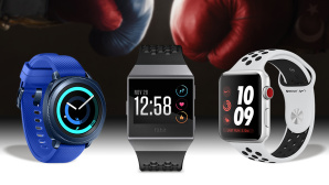 Samsung Gear Sport vs. Fitbit Ionic vs. Apple Watch Series 3 © Fitbit, Apple, Samsung, ©istock/Gutzemberg