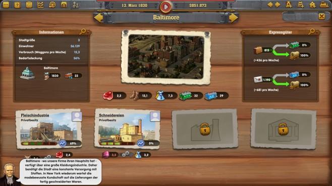 Railway Empire - Screenshot 2 ©Kalypso Media