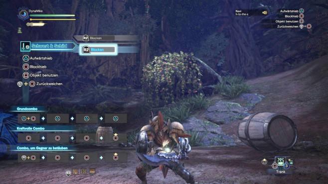Monster Hunter – World: Die besten Waffen – so schlagen Sie sich durch! Angenehm zu beherrschen: Schwert und Schild. ©Capcom