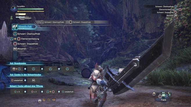 Monster Hunter – World: Die besten Waffen – so schlagen Sie sich durch! Die Morphaxt ist leichte und schwere Waffe zugleich. ©Capcom