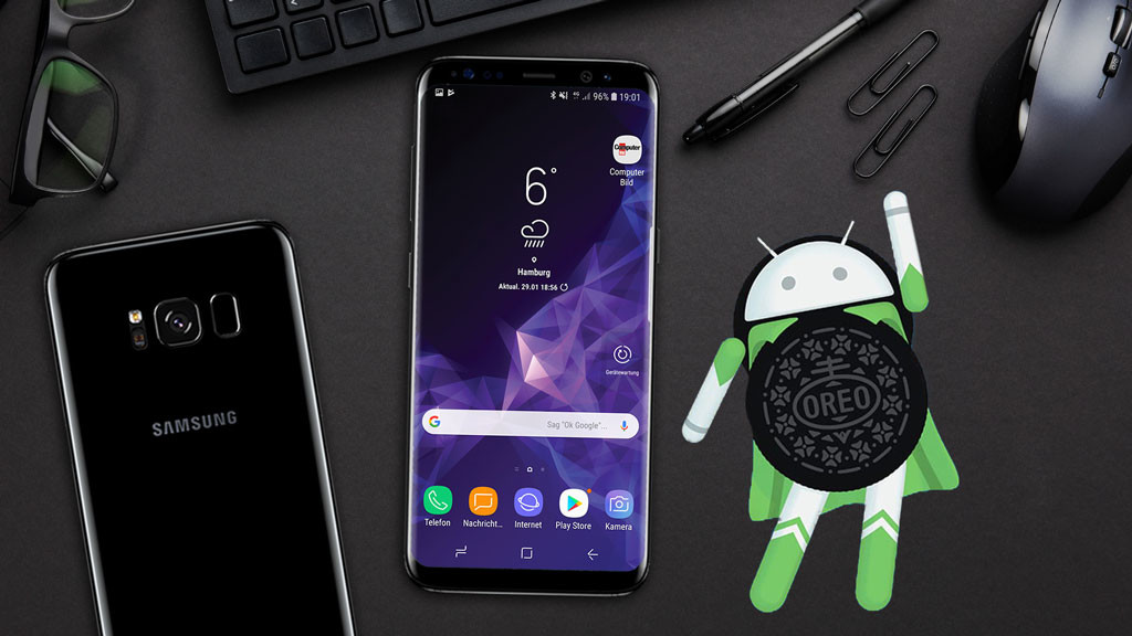 Samsung Galaxy S8 mit Android Oreo ©iStock.com/kjekol, Samsung, Android/ Google