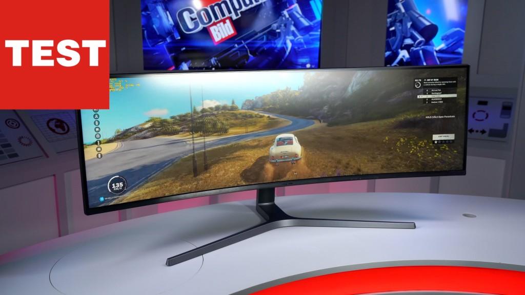 samsung c49hg90 extrem breiter curved monitor im test. Black Bedroom Furniture Sets. Home Design Ideas