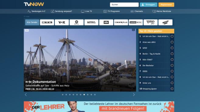 TV NOW ©RTL Mediengruppe