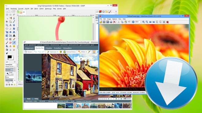 Bilder bearbeiten: Die drei besten kostenlosen Downloads ©GIMP, IrfanView, Ashampoo