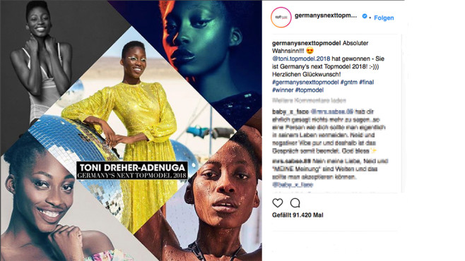 Germany's Next Topmodel: Finale 2018©ProSieben, germanysnexttopmodel, Instagram