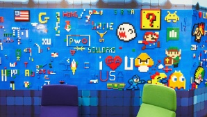 Google Lego Wall ©Google