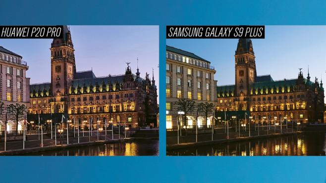 Huawei P20 Pro vs. Samsung Galaxy S9 Plus ©COMPUTER BILD