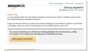Amazon Phishing-Mail © Mimikama