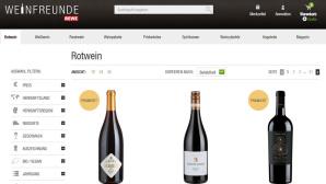Weinfreunde Website ©Rewe/Weinfreunde