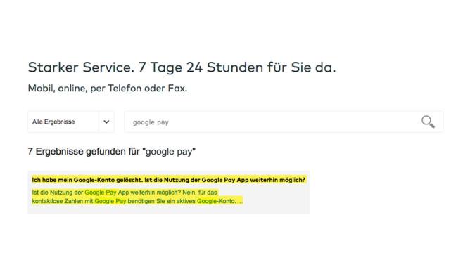 FAQ-Seite für Google Pay ©Screenshot Comdirect