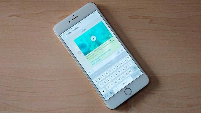 WhatsApp für iOS: Instagram-Video wiedergeben©COMPUTER BILD