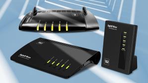 DSL-Router bei 1&1©1&1, AVM, ©istock/eugenesergeev