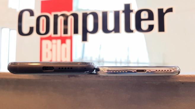 Oukitel U18: USB-Typ-C-Anschluss ©COMPUTER BILD/Michael Huch